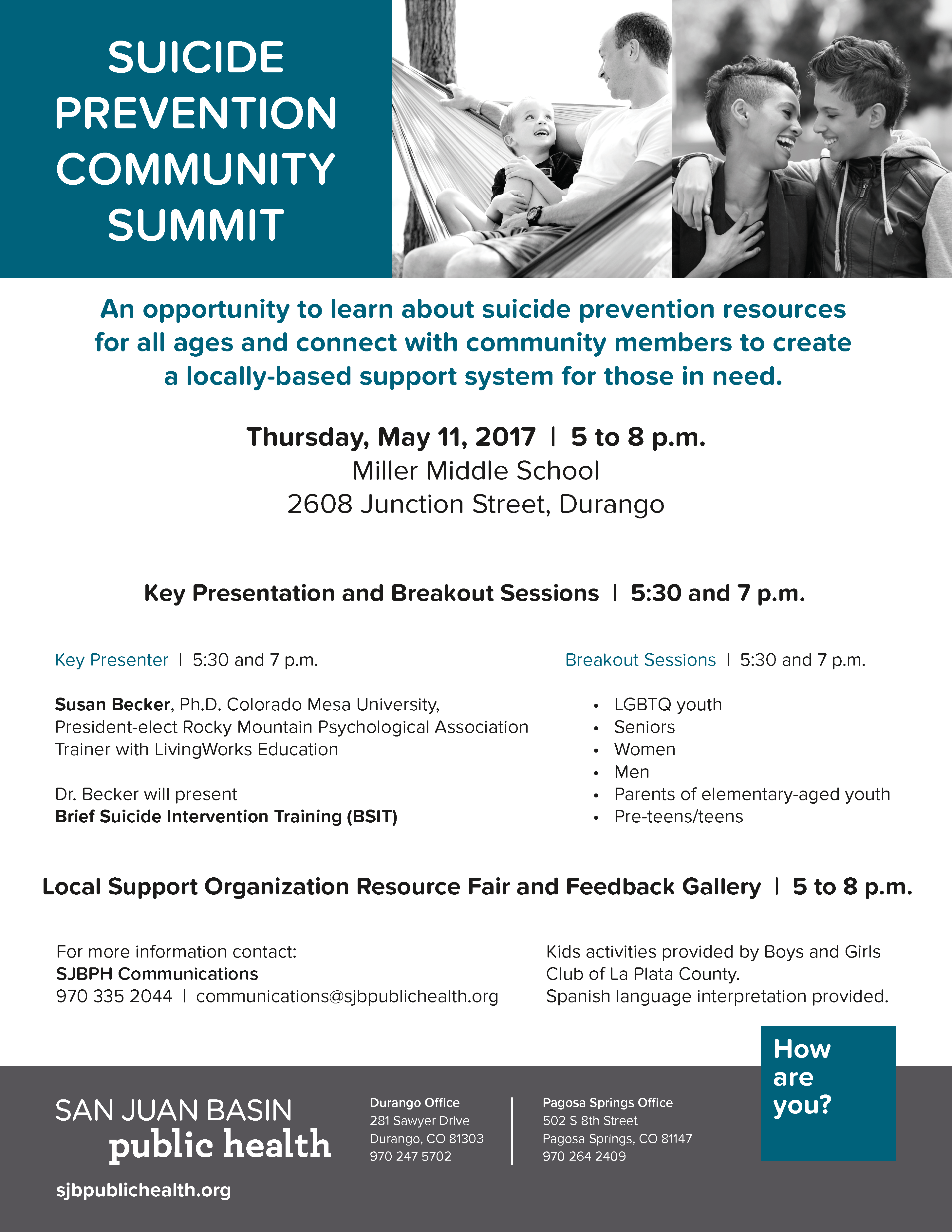 Suicide Prevention Community Summit Taking Place On May